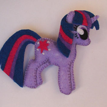 My little pony felt brooch Twilight Sparkle
