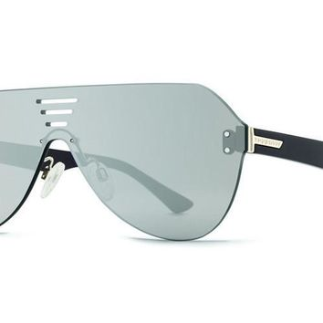 VonZipper - Alt Farva Black Gloss ALS Sunglasses, Flash Silver Lenses