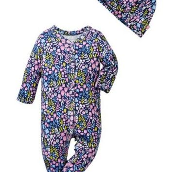 Offspring | Wildflowers Footie & Hat Set (Baby Girls)