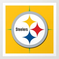 "NFL Steelers ""logo"" Art Print by Nostromo"