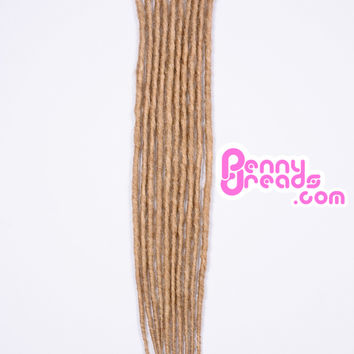 Dirty Blonde Single Ended Synthetic Dreadlock Extensions (Pre-Order)