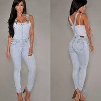 WOMEN'S JEANS SUPENDER JEANS OVERALLS DENIM JEANS 2781