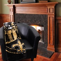 "New Orleans Saints 50"" x 60"" Grand Stand Plush Blanket"