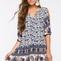 Najee Elephant Borders Dress