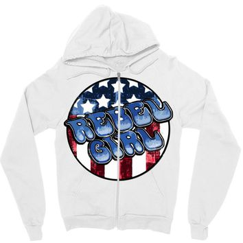 rebel girl 2 Zipper Hoodie