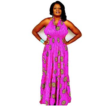 CUTIE African Print Maxi Dress