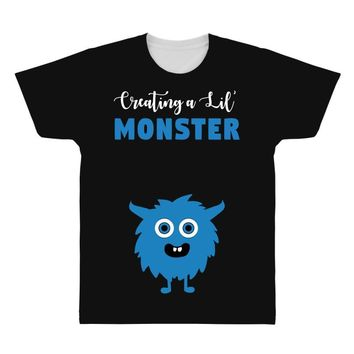 Creating A Lil Monster Baby Boy All Over Men's T-shirt