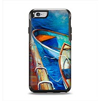 The Colorful Pastel Docked Boats Apple iPhone 6 Otterbox Symmetry Case Skin Set