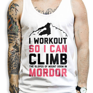 Mordor Workout Tank Top - Nerdy Fitness Tank Top, Fitness Tank, Workout Tank, Nerdy Shirt, Lord of the Rings Shirt, Lord of the Rings,