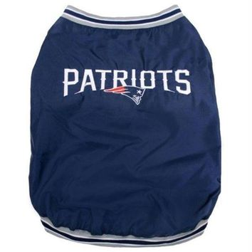 spbest New England Patriots Pet Sideline Jacket