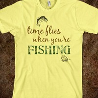 Time flies when you're fishing - The Kay Designs