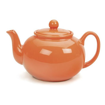 Stoneware Teapot – Orange