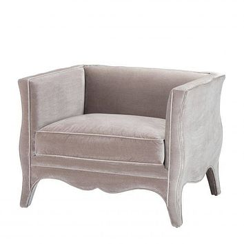 Gray Curved Accent Chair | Eichholtz Bouton
