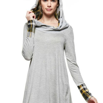 Heather Grey Hoodie Tunic Dress