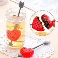 Sweet Tea Filter Infuser Strainer Teacup Teapot Cupid Heart Valentine Gift 3C