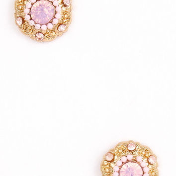 Cute as a Button Studs in Pink