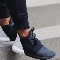 ADIDAS Fashion Sneakers Sport Shoes Tubular defiant Sneakers Black&white