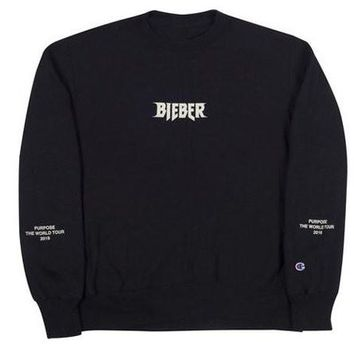 Justin Bieber Purpose Tour Crewneck - Black