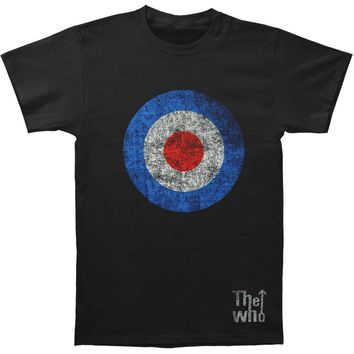Who Men's  Target Distressed T-shirt Black Rockabilia