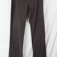 Lucy Yoga Pants M size Brown Low Waist stretch Fitted Flare Leg Workout Active