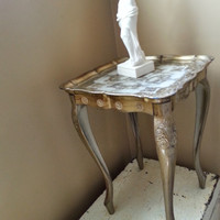 Vintage Florentine Side Table Plant Stand Gold Gilted Table