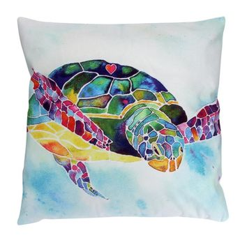 Creative 45x45cm New Design Multicolor Turtle Cushion Cover Sofa Pillow Case Home Decor Happy Gifts Housse De Coussin