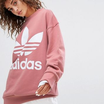 adidas Originals Oversized Sweatshirt In Pink at asos.com