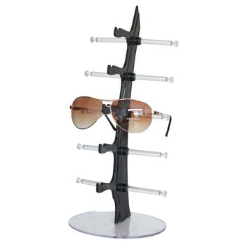 5 Pairs Glasses Sun Glasses Display Shelf Sunglasses Plastic Frame Removable Counter Shop Display Show Stand Holder Rack FG