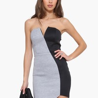 Neoprene Asymmetrical Dress
