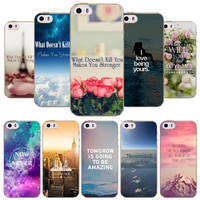 Nature Landscape Tower Silicon Cover Case For iPhone 4 4s 5 5S SE 5C Soft TPU  Phone Case Full Colorful Flower Fundas Coque