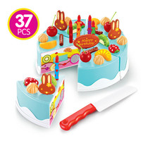 Kitchen Toys Pretend Play Cutting Birthday Cake Food Toy Kitchen For Children