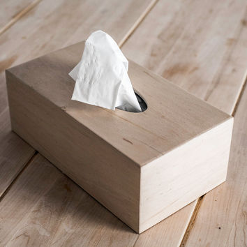Wood Tissue box Cover -- FREE SHIPPING