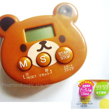 Cute bear kitchen timer for timing oven clay craft projects, cooking id1360608