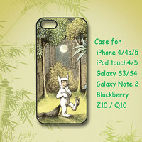 Where the Wild Things Are iPhone 4 Case, iPhone 5 Case, ipod case, Samsung Galaxy S4, Samsung Galaxy S3, Samsung note 2, blackberry z10, Q10