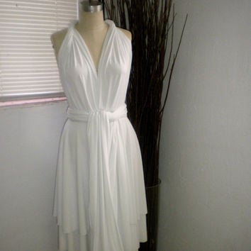 White Convertable Infinity Dress by kalypsoblue on Etsy