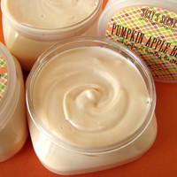 Pumpkin Apple Butter  Whipped Body Butter - Body Frosting - Natural lotion - Bath and Beauty 4 oz.