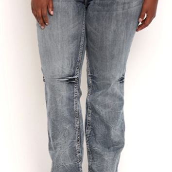 Plus Size Amethyst Bootcut Jean with Stud Imprints