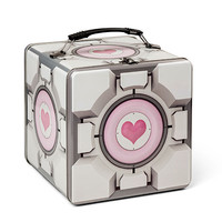 Portal 2 Companion Cube Tin Lunch Box