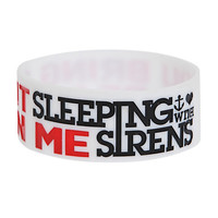 Sleeping With Sirens Beast In Me Rubber Bracelet