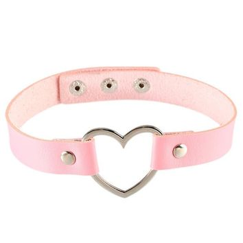 Cupid's Heart Choker Necklace
