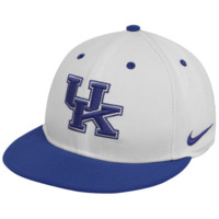 Nike Kentucky Wildcats White-Royal Blue Authentic Baseball Fitted Hat
