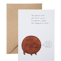 Ohh Deer The Spherical Bear Card