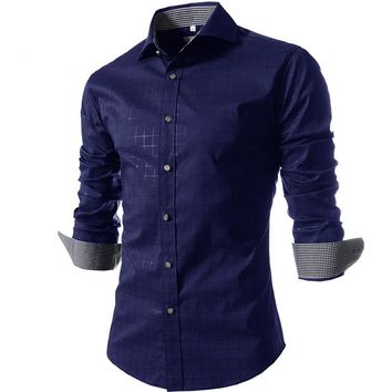 Men Shirt New Brand Design Spring&Summer Men's Plaid Shirt,Casual Slim Fit Stylish Dress Shirts For Plaid Men