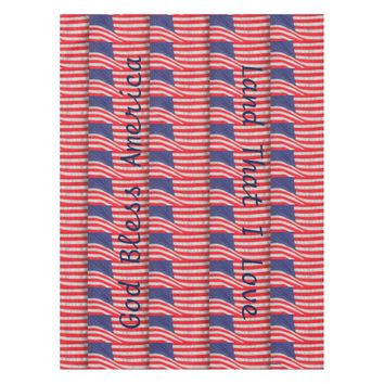 Patriotic Table Cloth, American Flags Tablecloth