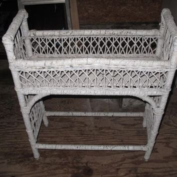 Antique OLD Wicker Plant Stand Vintage