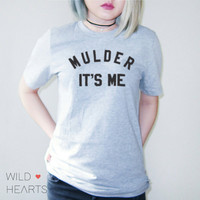 X-Files Mulder It's Me Shirt in Grey for Women