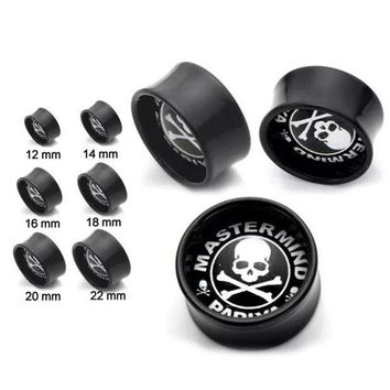 ac PEAPO2Q 1 piece New Skulls Ear Plugs Tunnels Flesh Expansions Piercing Crystal Ear Plugs Earring Gauges Ears Expanders Punk Body Jewelry