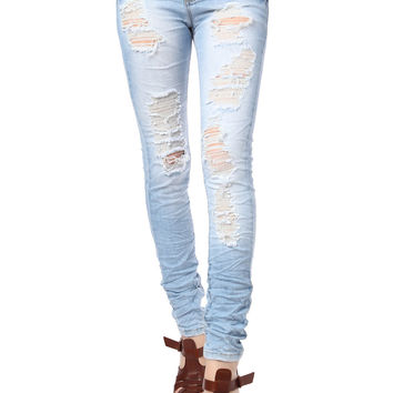 Super Skinny Jeans with Extreme Rips