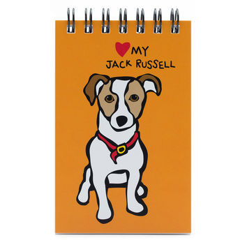 Jack Russell Spiral Notepad