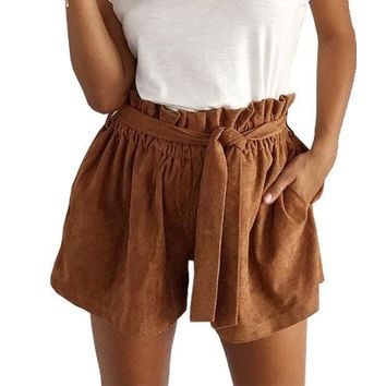 ICIKIX3 Autumn Women's Fashion Hot Sale High Waist Pants Shorts [9535627332]